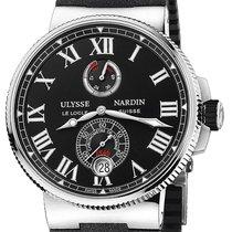 Ulysse Nardin yeni Otomatik Küçük saniye Parlayan gösterge Kronometre Güç rezervi göstergesi 45mm Çelik Safir cam
