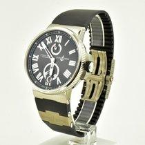 Ulysse Nardin Marine Chronometer Manufacture Steel 45mm Black Roman numerals