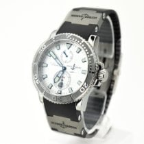 Ulysse Nardin Maxi Marine Diver pre-owned 42.7mm Silver Date Rubber
