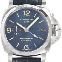 Panerai Luminor GMT Automatic Сталь 44mm Синий Aрабские