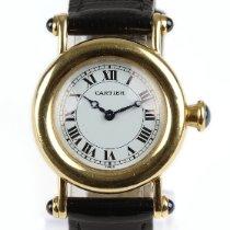 Cartier Diabolo Желтое золото 27mm Белый Римские