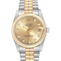 Rolex Datejust Or blanc 31mm Champagne