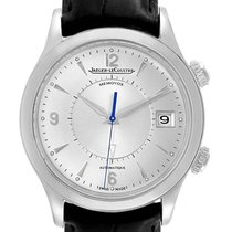 Jaeger-LeCoultre Master Memovox pre-owned 40mm Silver Leather