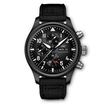 IWC Ceramic Automatic Black 44.5mm new Pilot Chronograph Top Gun