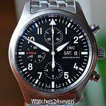 IWC Pilot Chronograph подержанные Чёрный Хронограф Дата Усложнённая застёжка