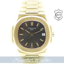 Patek Philippe Nautilus Yellow gold 37mm Blue No numerals