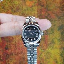 Rolex Lady-Datejust Stahl 26mm Schwarz