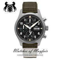 萬國 Pilot Spitfire Chronograph 鋼 41mm 黑色
