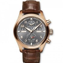 IWC Rose gold Automatic Grey Arabic numerals 46mm new Pilot Spitfire Perpetual Calendar Digital Date-Month