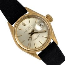 Rolex Oyster Perpetual Lady Date Acero y oro 26mm Plata Sin cifras