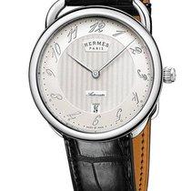 Hermès Arceau Stal 40mm Srebrny Arabskie