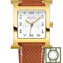 Hermès Heure H Stahl 30.5mm Weiß Arabisch