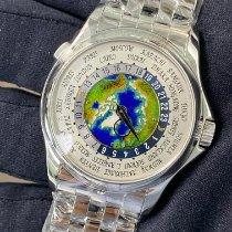 Patek Philippe World Time Platinum 39.5mm White United States of America, New York, Manhattan