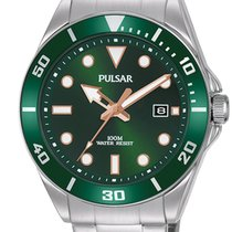 Pulsar Steel 41.6mm Quartz PG8301X1 new