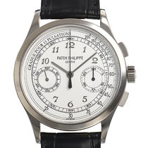 Patek Philippe Chronograph White gold 39,4mm Silver Arabic numerals