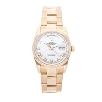 Rolex Day-Date 36 Or rose 36mm Blanc Romains