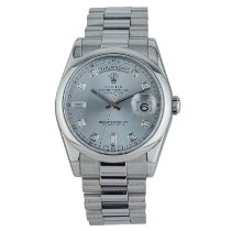 Rolex Day-Date 36 Platinum 36mm Blue Roman numerals United States of America, Georgia, ATLANTA