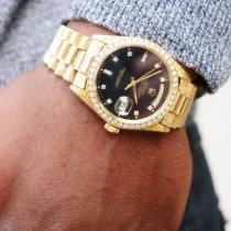 Rolex Day-Date 36 Yellow gold 36mm Black No numerals United Kingdom, Macclesfield