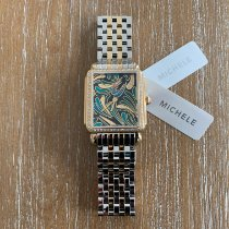 Michele Deco Yellow gold 30mm No numerals United States of America, New Jersey, Edgewater
