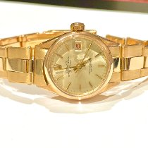 Rolex Or rose Remontage automatique Argent Sans chiffres 26mm occasion Oyster Perpetual Lady Date