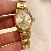 Rolex Rose gold Automatic Silver No numerals 26mm pre-owned Oyster Perpetual Lady Date