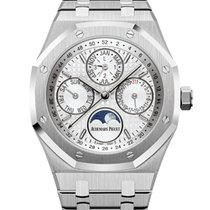 Audemars Piguet Royal Oak Perpetual Calendar Steel 41mm Silver No numerals