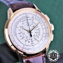 Patek Philippe Chronograph Yellow gold 40mm Silver United States of America, New York, New York