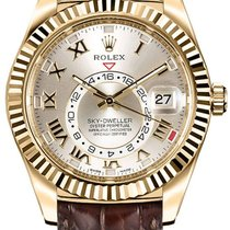Rolex Sky-Dweller Yellow gold 42mm Silver Roman numerals United States of America, New York, New York