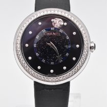 Chanel Mademoiselle White gold 37.5mm Blue No numerals United States of America, Texas, Houston