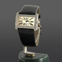 Cartier White gold Quartz Silver pre-owned Tank Divan