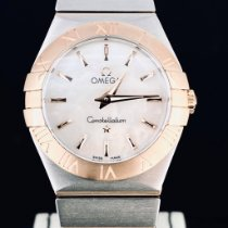 Omega Constellation Quartz Guld/Stål 27mm Pärlemor