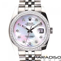 Rolex Datejust pre-owned 36mm Mother of pearl Steel