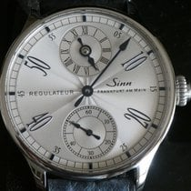 Sinn 6100 pre-owned 44mm Silver Leather