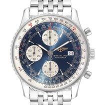 Breitling Old Navitimer occasion 42mm Bleu Chronographe Date Acier