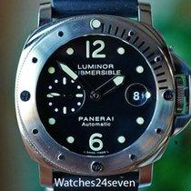 Panerai Luminor Submersible occasion 24mm Noir Date Boucle ardillon