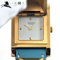 Hermès Damenuhr 32mm Quarz gebraucht Nur Uhr