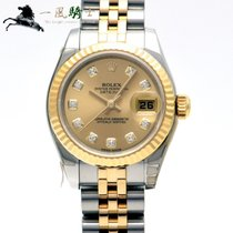 Rolex Lady-Datejust Staal 26mm Champagne