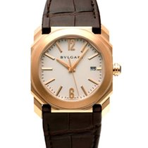 Bulgari Rose gold Automatic Silver 38mm pre-owned Octo