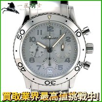 Breguet White gold Automatic Silver 39mm pre-owned Type XX - XXI - XXII