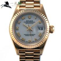 Rolex Lady-Datejust Or jaune 26mm Blanc
