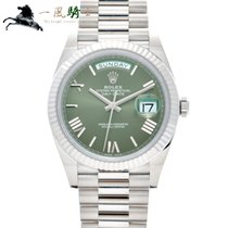 Rolex Day-Date 40 Oro blanco 40mm Verde