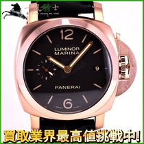 Panerai Rose gold Automatic Brown 42mm pre-owned Luminor Marina 1950 3 Days Automatic