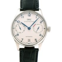 IWC Portuguese Automatic occasion 42mm Argent Cuir