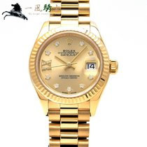 Rolex Lady-Datejust Oro amarillo 28mm Champán