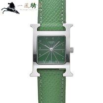 Hermès Heure H Acero 30mm Verde