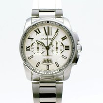 Cartier Calibre de Cartier Chronograph Stahl 42mm Silber