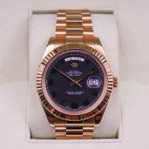 Rolex Day-Date II Oro amarillo 41mm Marrón Romanos