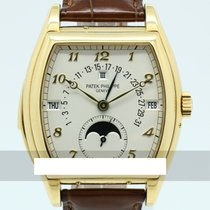 Patek Philippe Minute Repeater Perpetual Calendar Yellow gold 46.4mm White