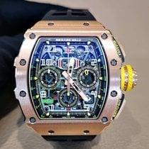 Richard Mille RM 011 Rose gold 49.94mmmm Transparent Arabic numerals