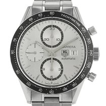 TAG Heuer Carrera Calibre 16 Steel 40mm Silver Arabic numerals